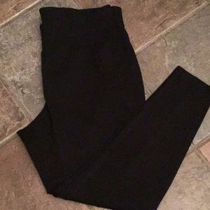 Lane Bryant Black Ponte Leggings